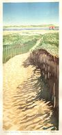 Matt Brown Woodblock Print Afternoon On Plum Island