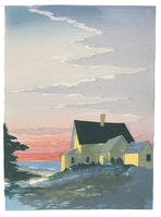 Matt Brown Woodblock Print A Maine Morning