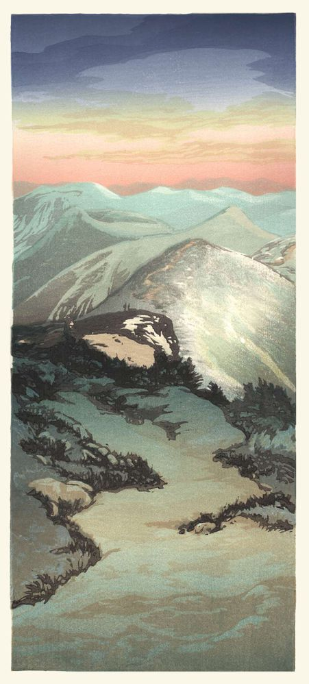 Matt Brown Woodblock Print Along Franconia Ridge, 2nd State, edtn sold out