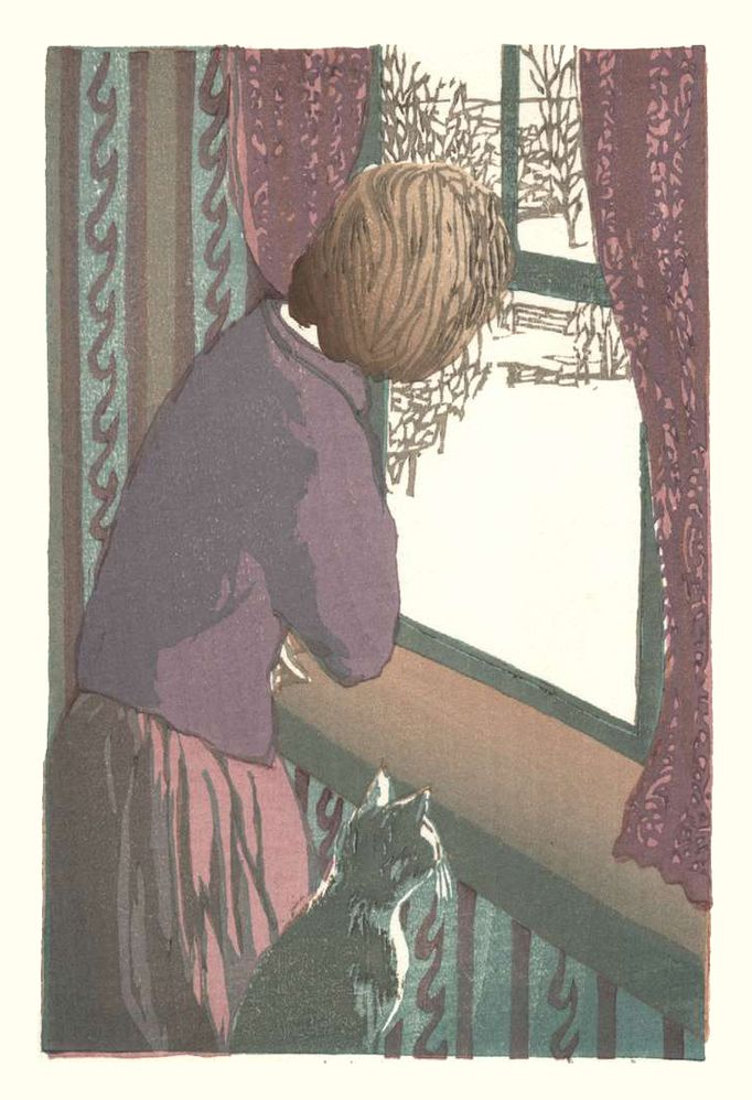Matt Brown Woodblock Print April Window