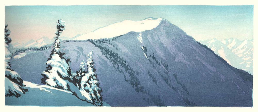 Matt Brown Woodblock Print Aspen Highlands