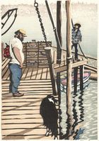 Matt Brown Woodblock Print Lobster Dogs