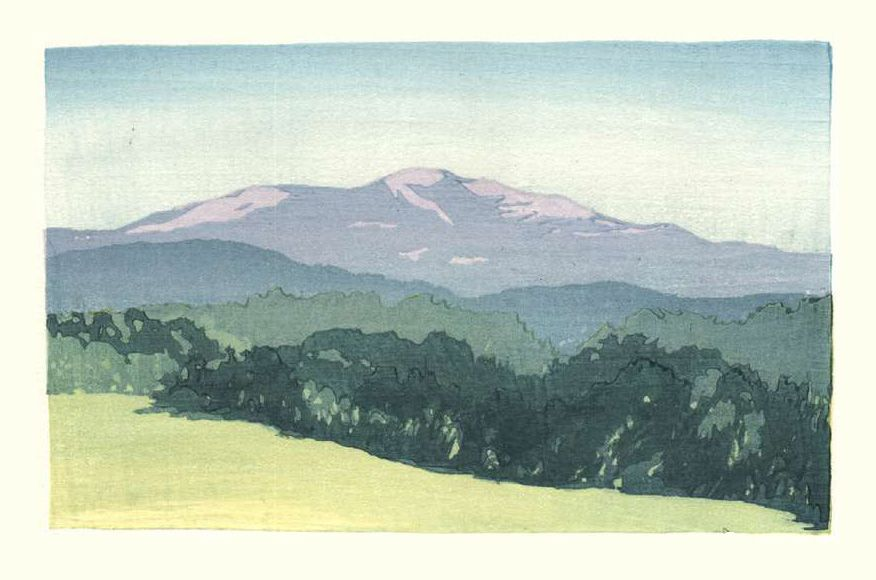 Matt Brown Woodblock Print Moosilauke