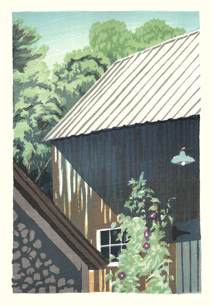 Matt Brown Woodblock Print Morning Glory Morning, 3rd State